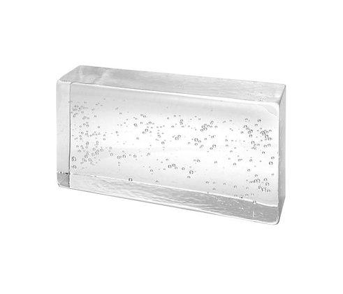 Brique en verre transparente/bulles