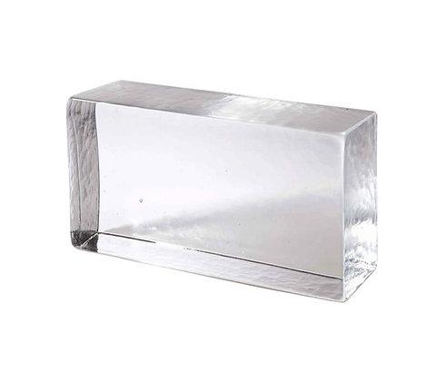 Brique en verre transparente
