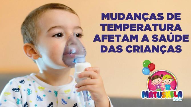 Mudanças de temperatura afetam a saúde das crianças