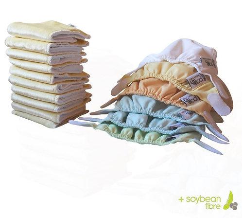 Close paket za novorojenčke v pastelnih barvah