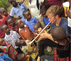 Playing for kids at a primary school in Ghana, Africa.