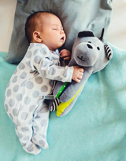 whisbear, šumeči medvedek, spanje, dojenček, pogosto prebujanje ponoči, beli šum, zvok maternice