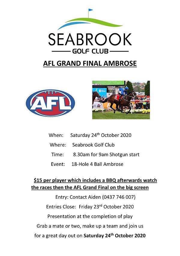 AFL  4 Ball Ambrose- Saturday October 24