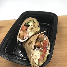 Chicken Sisig Breakfast Burrito
