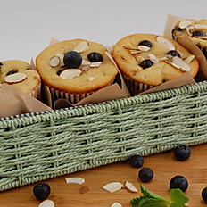 Blueberry Almond Protein Muffins