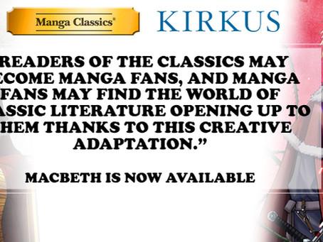 Manga Classics: Macbeth Receives Kirkus Review