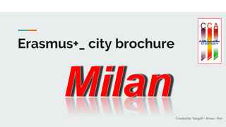 Advertising brochure about Milan
