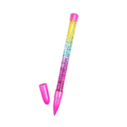 Pink Poppy Rainbow Glitter Water Pen
