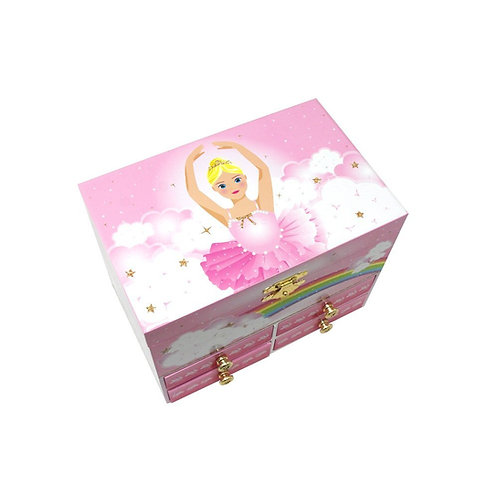 Pink Poppy Little Ballet Dancer Musical Jewellery Box - Medium