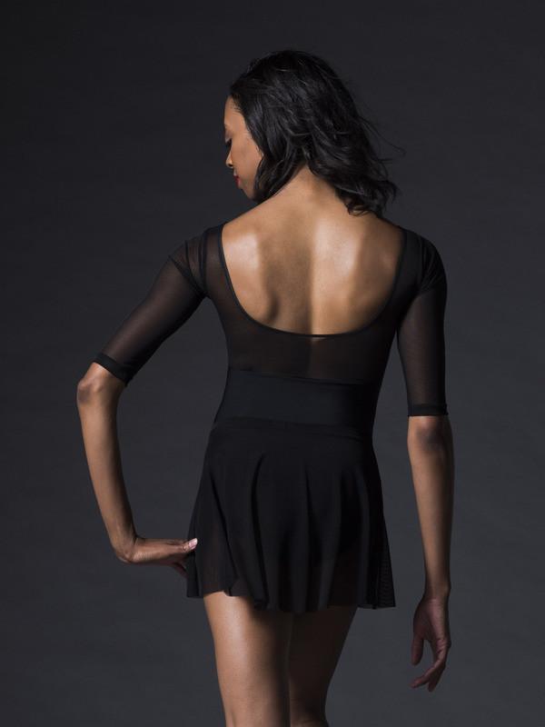 Nadine Black Velvet Leotard