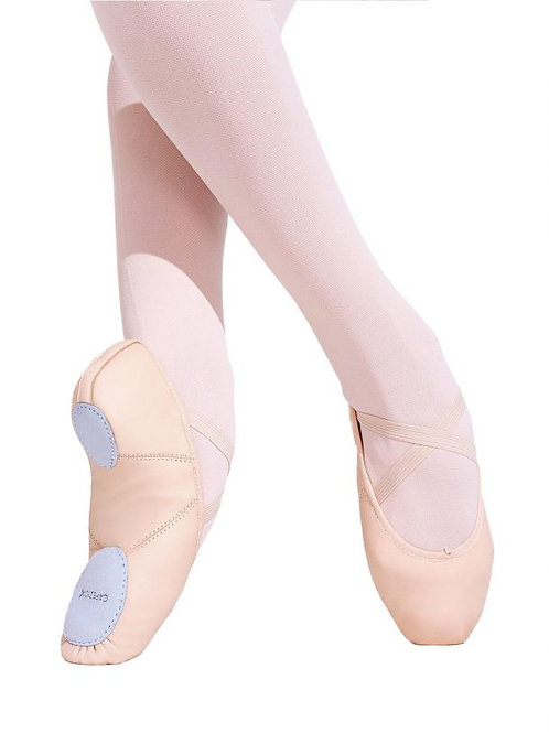 Capezio Juliet Leather Ballet Shoe - Child