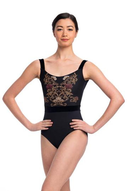 AinslieWear Arden Leotard with Grand Elegance Print - Adults