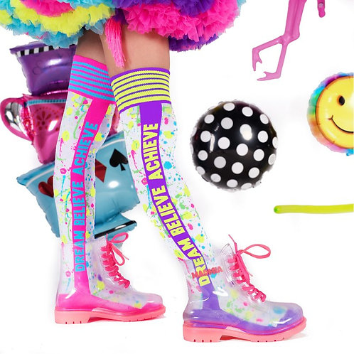 Mad Mia Dream Believe Achieve Socks
