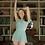 Thumbnail: Eleve Flare Skirt Misty Blue Mesh