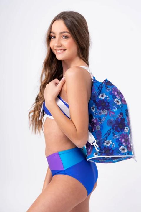 Sylvia P Adriatic Bloom Bucket Bag