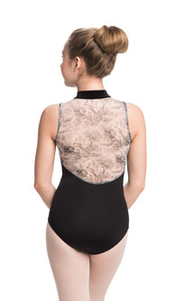 AW1062PT G Girls Zip with Velvet Collar Peacock Black Back.jpg