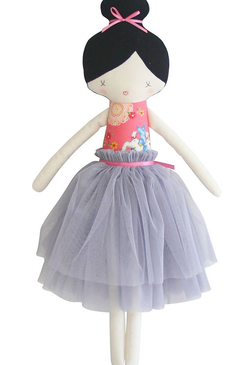 Alimrose Amelie Doll - Pink and Grey