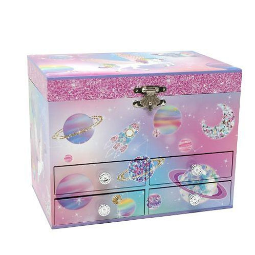 Pink Poppy To the Moon Musical Jewellery Box - Medium
