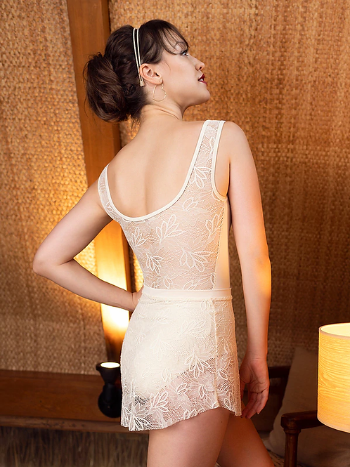 Tulip Skirt with Lotus Lace Leotard