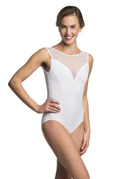 AinslieWear Bianca with Mesh (White) - Adult