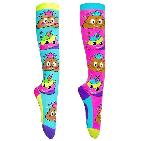 Mad Mia Poo Emoji Socks