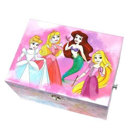 Pink Poppy Disney Watercolour Princess Musical Jewellery Box - Large