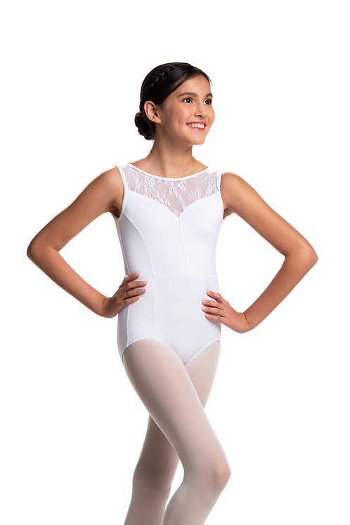 Ainsliewear Bianca with Kara Lace Leotard (White)