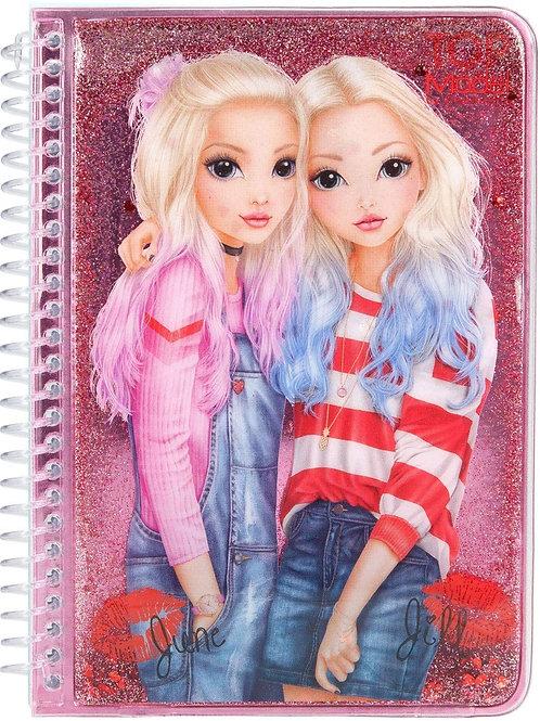 Top Model Glitter Notebook - Selfie
