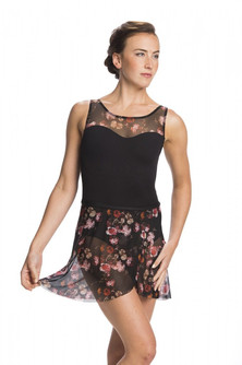 Wrap Skirt in Rose Bouquet Mesh