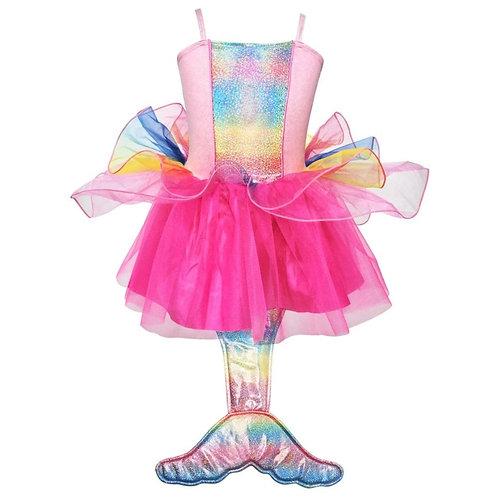 Pink Poppy Mermaid Princess Dress (Pink)