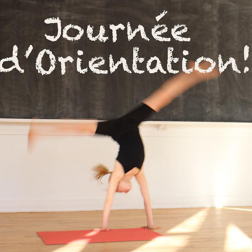 JOURNÉE D'ORIENTATION!  ORIENTATION DAY!