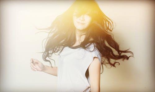 luminescent light woman