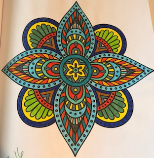 coloring book picture colored in