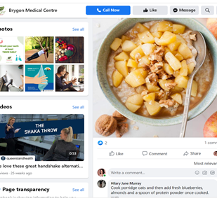 Facebook Campaign created for Brygon Medical Centre