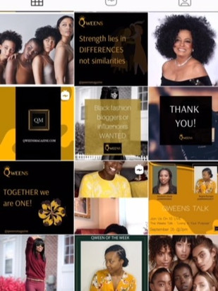 Instagram Campaign created for Qweens Magazine