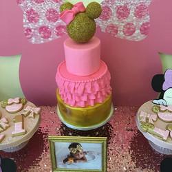 Pink & Gold Minnie Cake