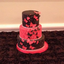Red & Black Butterfly Cake