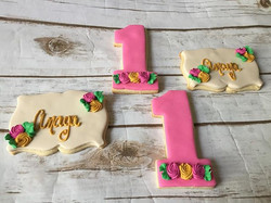 1st Birthday Cookies-shipped to #NJ for