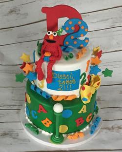 Elmo Sesame Street Cake- made this cake