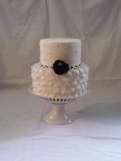 White Glam Cake