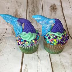 Mermaid Cupcakes #cupcakes #mermaid #mer