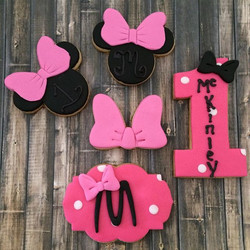 Minnie Mouse 1st Birthday Cookies