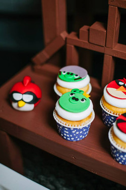 Angry Bird Space Cupcakes