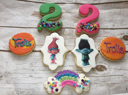 Trolls Cookies made for _blessedevents21