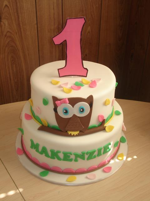 Owl 1st Birtday Cake