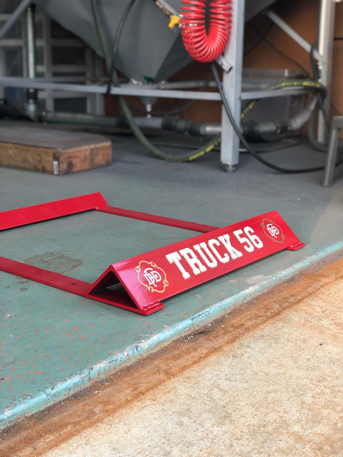 Firetruck wheel chock
