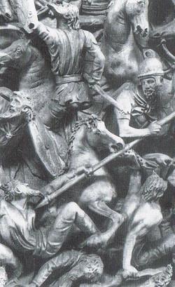 Barbaren im Kampf (Trajansäule)