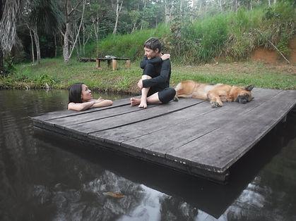 Yoga retreat - relax - dock