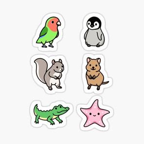 Cute Animal Sticker Pack 12
