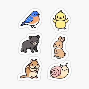 Spring Animal Sticker Pack